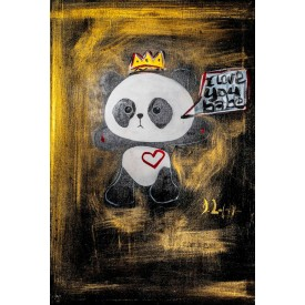 Black and Gold Panda - 24 x 35